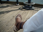"Relaxing in North Vancouver at Lonsdale Quay (pron. ""key""--which I refuse to say)"