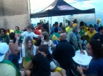 After party for the Brasil-Chile game (3-0). The game was at 11:30. I got there at 10:30. We partied in the patio until about 4:30, then went to Gabi's house and partied there until about 9. <3 Brasileiros.