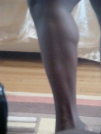 Spent the day FINALLY unpacking and getting rid of old clothes--which meant a lot of trying on of things...which meant a lot of time in the mirror...which meant, shabby photo quality and all, LOOK AT MY CALVES!!
