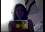 Skyping with Kelly, one of my Brazilian friends in Vancouver